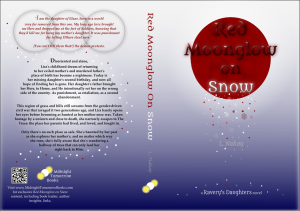 Red Moonglow on Snow by L. Nahay