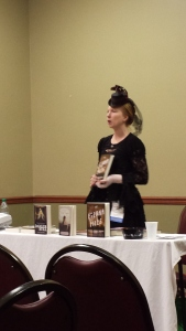 Author Leanna Renee Hieber, reading from her latest, The Externa Files.